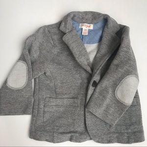 Cat & Jack toddler gray knit blazer elbow patch